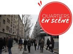 """Visite du quartier des épinettes le 20 janvier dans le cadre de """"Quartiers en scène""""."""