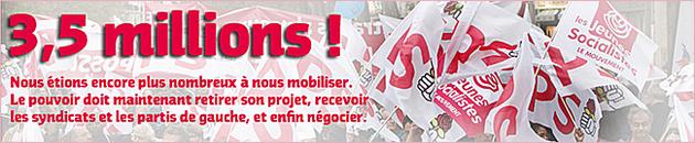 Retraites : Le président doit «retirer le projet», et «recevoir les partis de gauche et les syndicats»