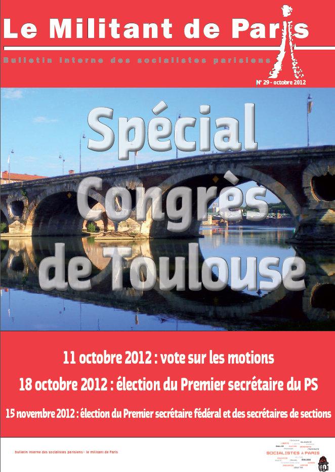 LE MILITANT DE PARISJournal de la Fédération de Paris, n° Spécial Congrès